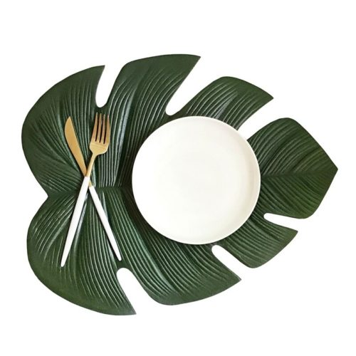 Leaf Placemat Waterproof Table Decor
