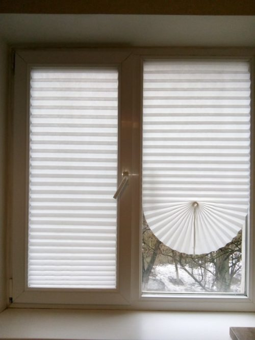 Pleated Blinds Adhesive Window Cover