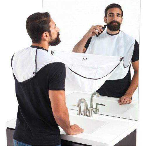 Shaving Hair Catcher Apron with Hooks