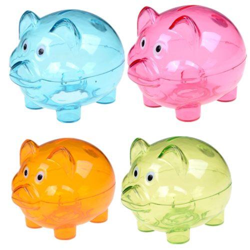 Plastic Money-Saving Clear Piggy Bank