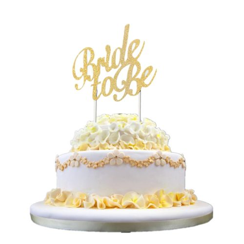 Paper Bride to Be Cake Topper with Stand