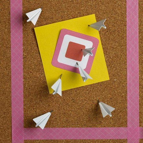 3D Paper Airplane Novelty Push Pins (6 pcs)