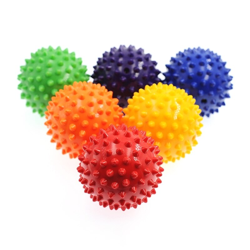 Fitness PVC Hard Spiky Massage Ball Relief Plantar Fasciitis Hand Foot Training Grip Ball Portable Physiotherapy Spike Ball 7cm