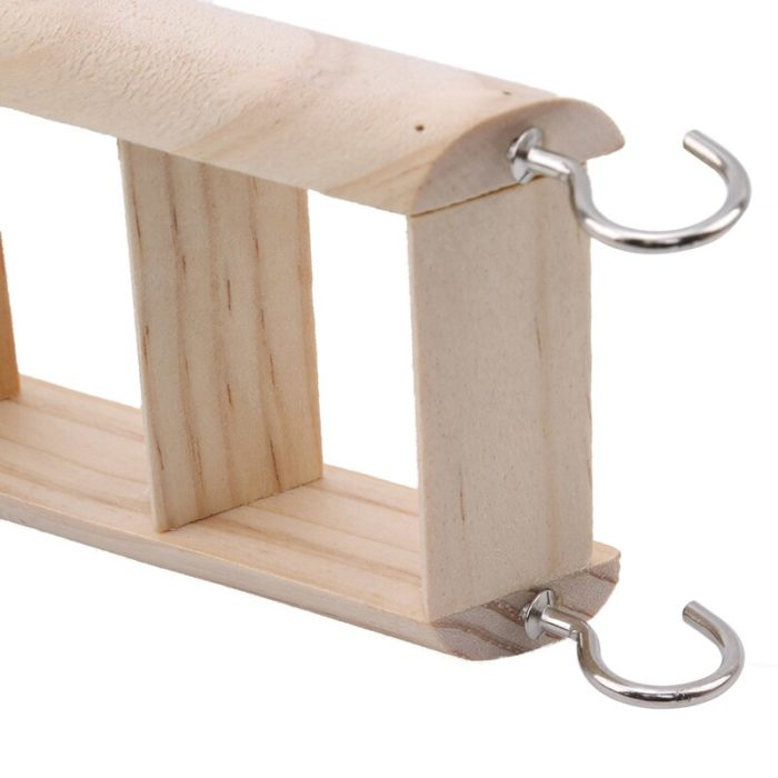 Wooden Guinea Pig Stairs with Hooks