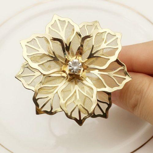 Flower Metal Napkin Rings (10pcs)