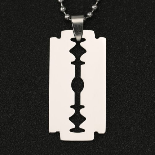 Stainless Steel Razor Blade Necklace