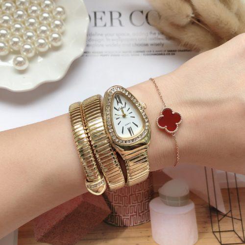 Luxurious Quartz Snake Watch
