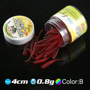 Scented Plastic Fishing Worms (50 pcs)