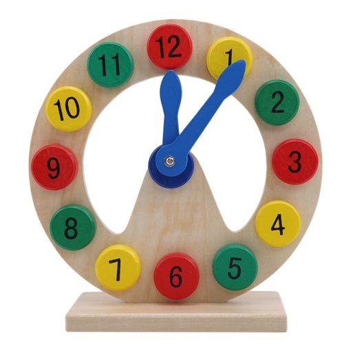 Educational Wooden Montessori Clock