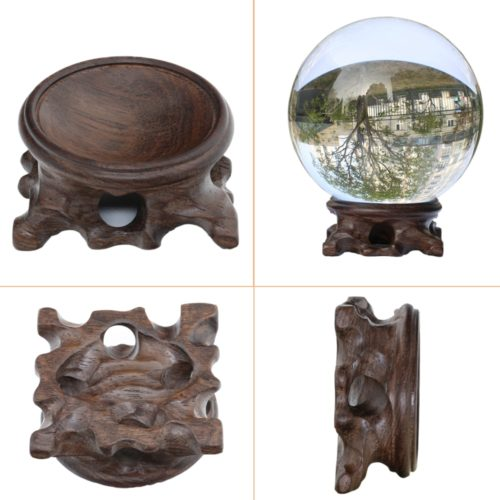 Crystal Ball Holder Wooden Display Stand