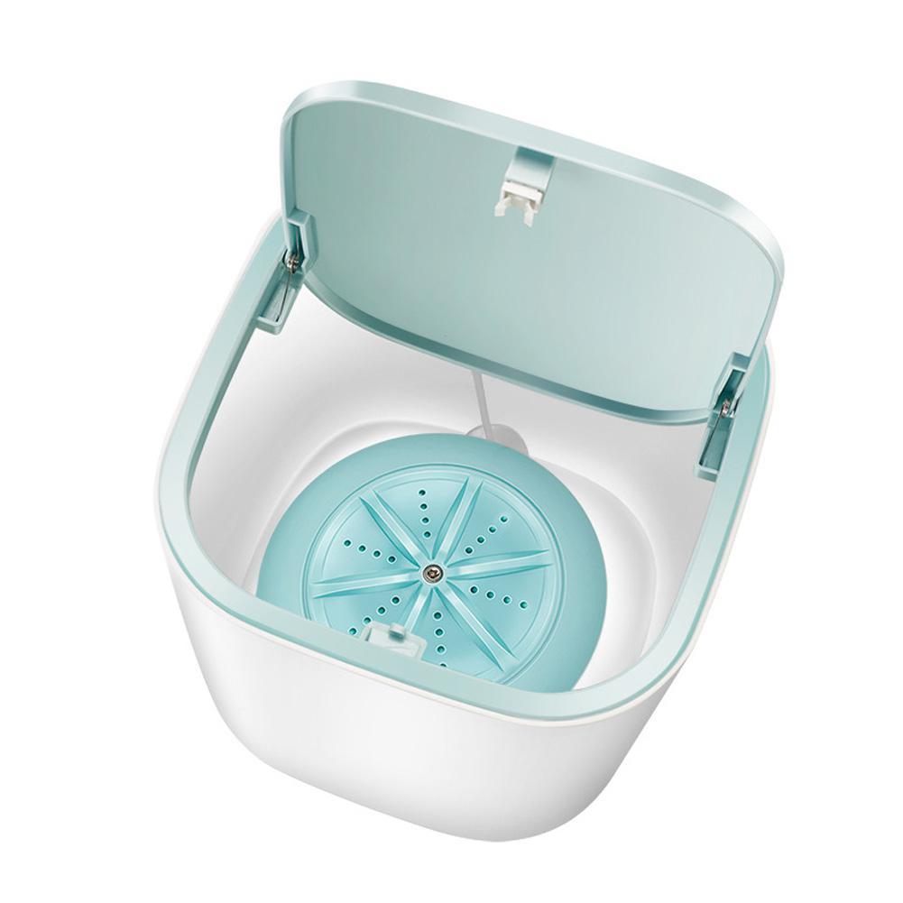 Portable Ultrasonic Electric Washing Machine USB Charging Mini Tabbletop Clothes Washing