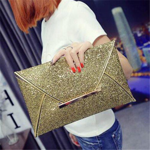 Glittery Envelope Clutch Bag