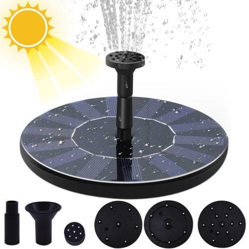 Solar Pond Fountain Birdbath Water Pump