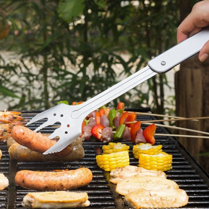 Multi-Functional Spatula Tongs for Grilling