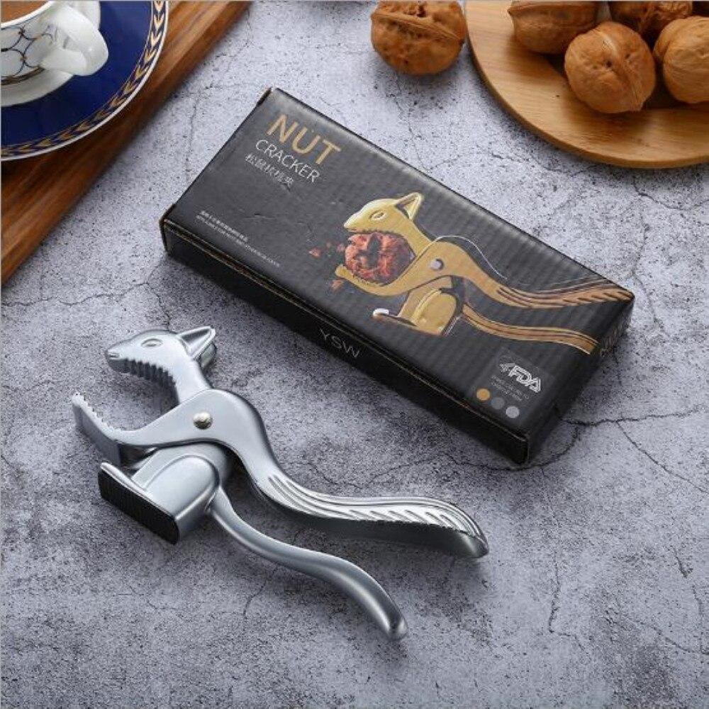 Squirrel Shape Almond Nut Pecan Nuts Nutcracker Nut Opener Sheller Kitchen Tool Hazelnut Walnut Pliers Sheller Clip Clamp Plier