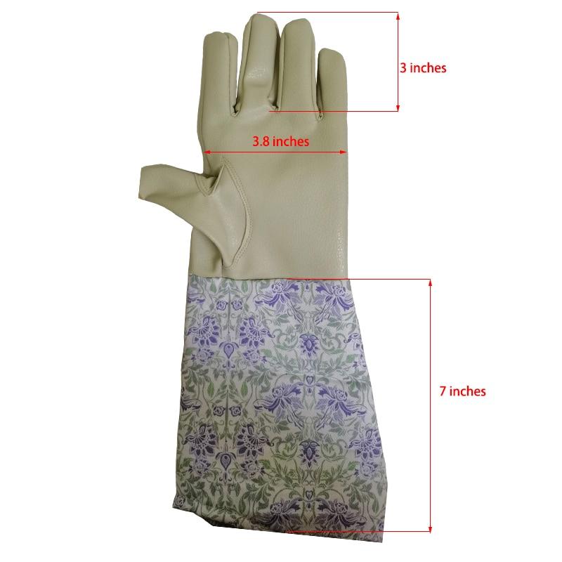 Gardening Gloves Work Planting Housework for Men Women Proof Rose Pruning With Long Forearm Gauntlet