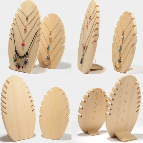 Wooden Jewelry Display Stands (2pcs)