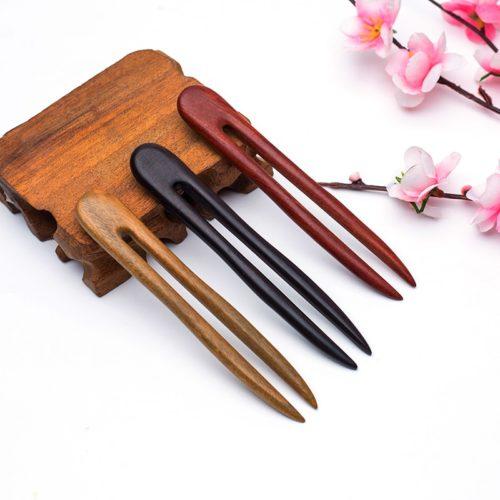 Traditional Natural Wooden Hair Pin