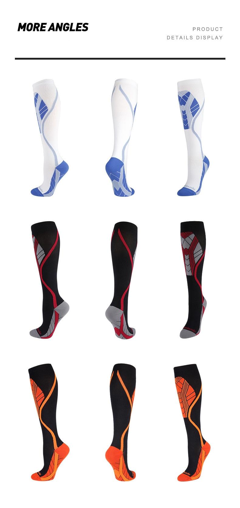 Men/Women Dropship Compression Stockings Socks Pack Unisex Sports Socks Lot Prevent Varicose Veins Nurse Socks Football Running