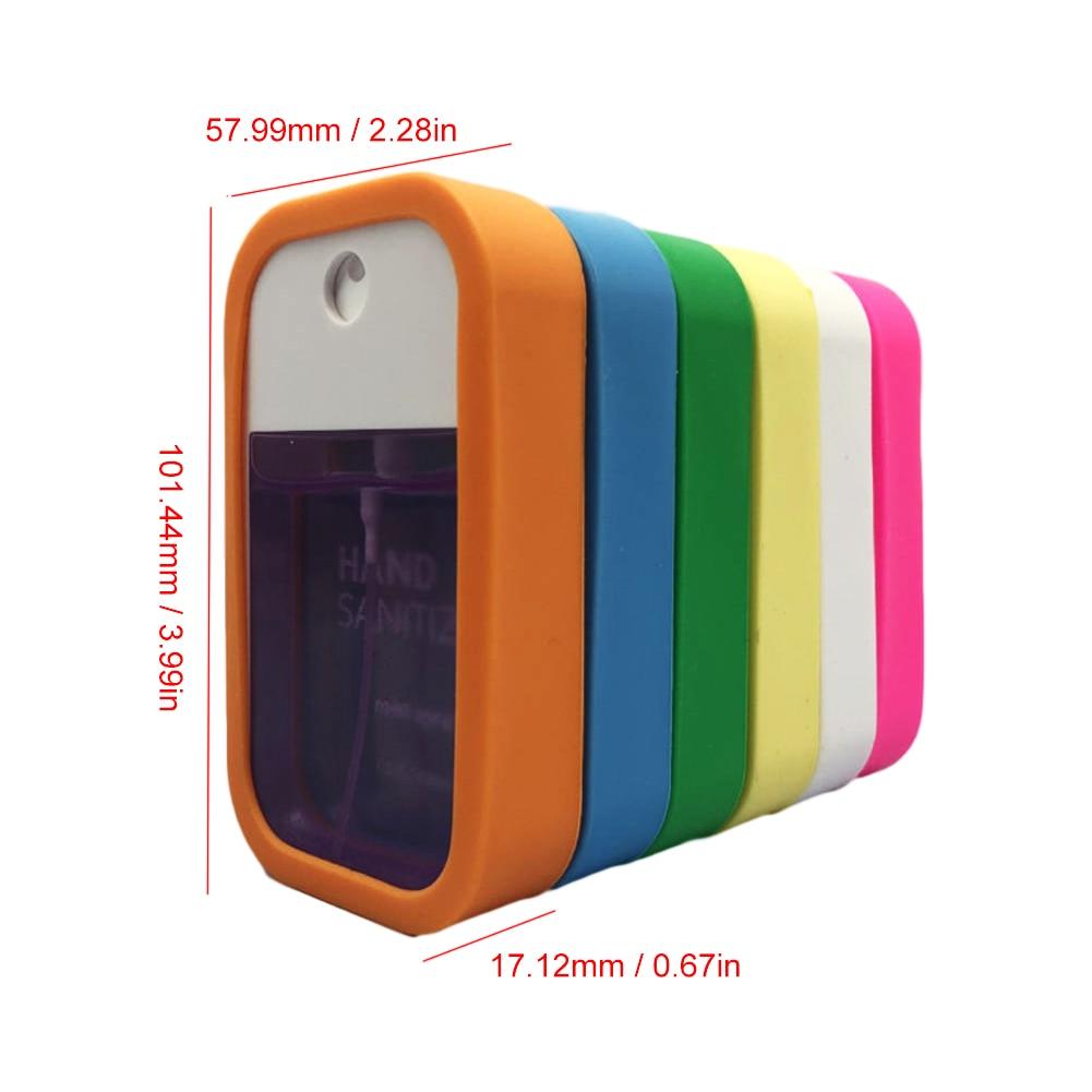 45Ml Square Transparent Travel Portable Flat Spray Bottle High Pressure Fine Mist Spray Bottle Alcohol Disinfectant Sub-bottling