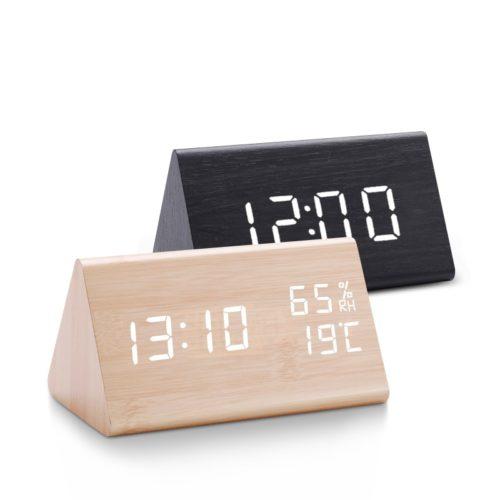 Wooden Digital LED Alarm Clock