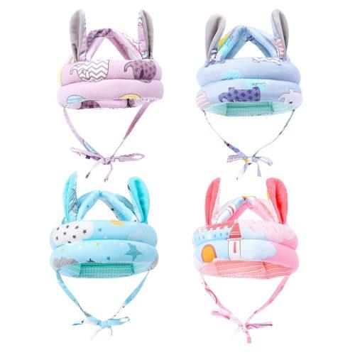 Soft Baby Helmet with Bunny Ears