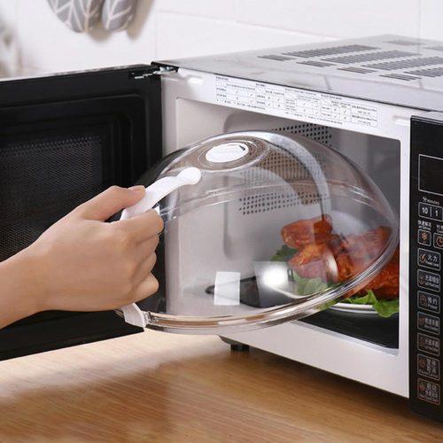 Transparent Microwave Splash Guard
