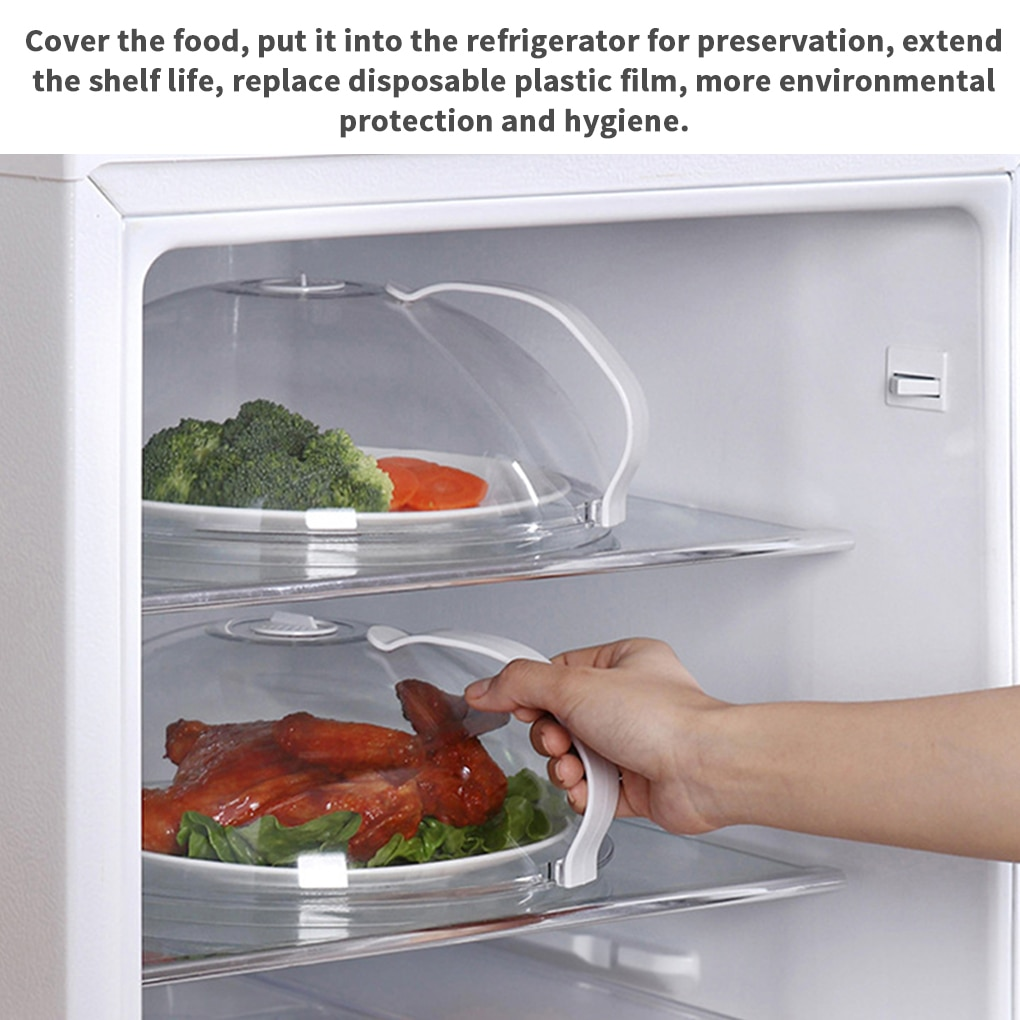Professional Microwave Food Anti-Sputtering Cover With Handle Heat Resistant Lid for Microwave Food Dropshipping