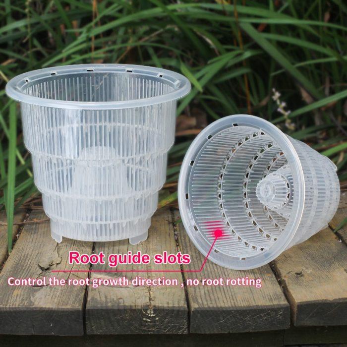 Plastic Mesh Plant Pot