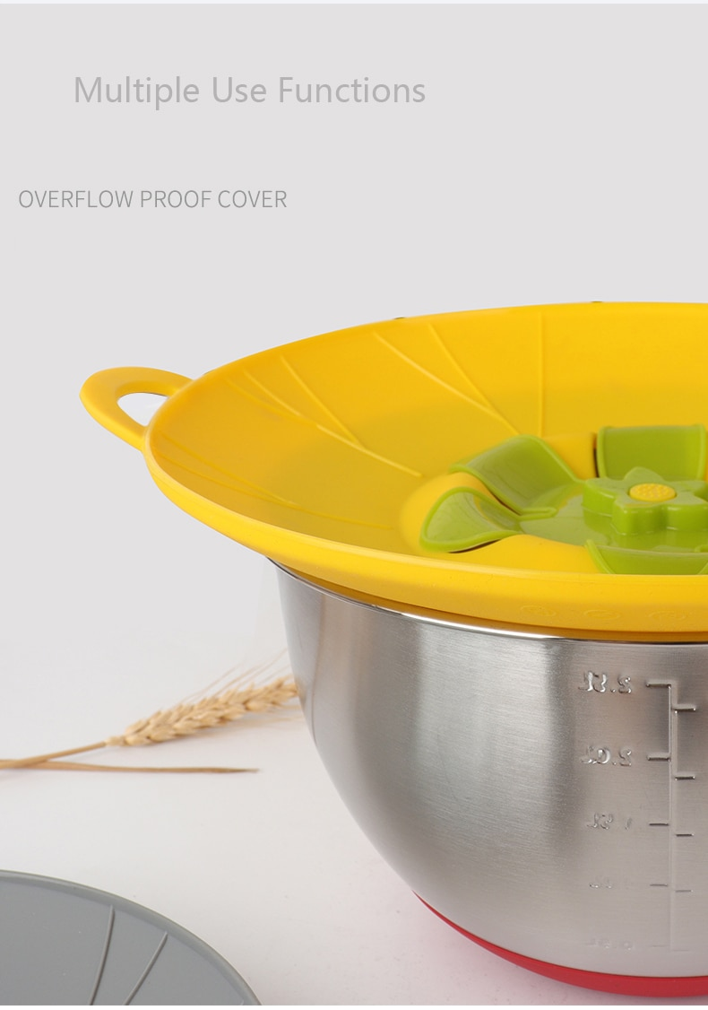 Internaul Silicone Lid Spill Stopper Cover For Pot Pan Kitchen Accessories Cooking Tools Flower Cookware Home Kitchen