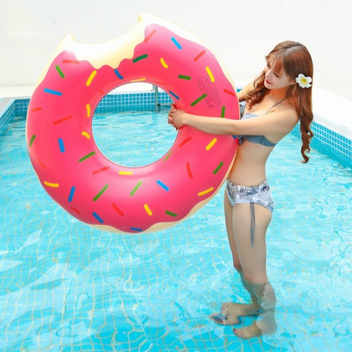 Inflatable Donut Swimming Float Ring
