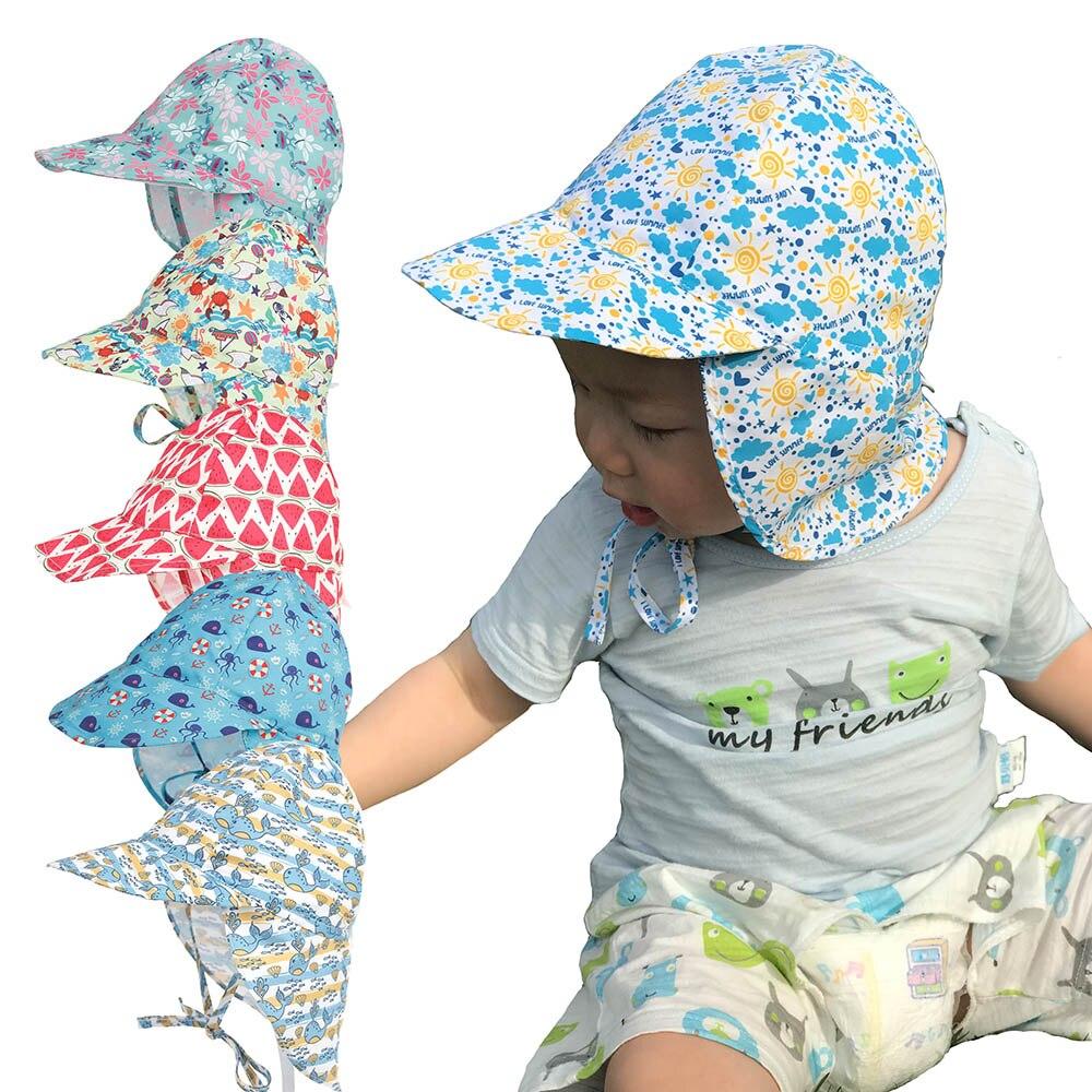 UV Protection Sun Hat Unisex Newborn Infant Toddler Kid Baby Boys Girls Summer Beach Headwear Outdoor Bucket Hat Cap Cotton