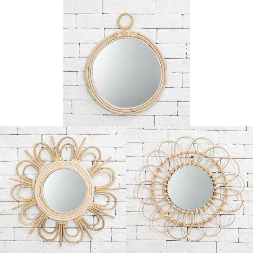 Creative Rattan Mirror Wall Decor