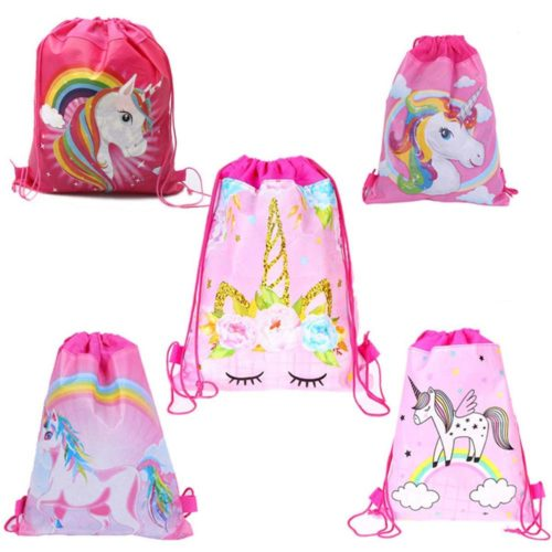 Unicorn Design Drawstring Bag for Girls