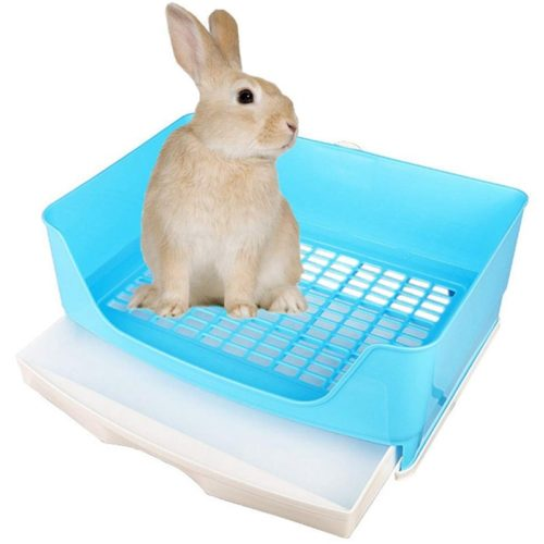 Easy-Clean Rabbit Litter Pan