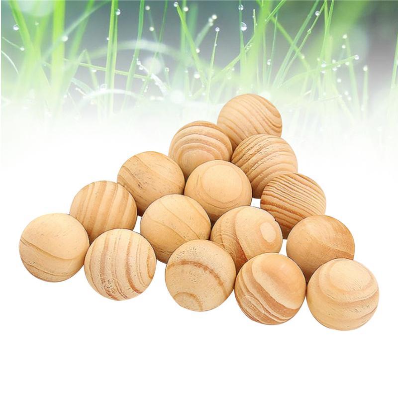 50pcs Natural Cedar Wood Balls Moth Repellent For Drawers Storage Boxes Closets Pest Control And Mothproof Natural Camphor Ball