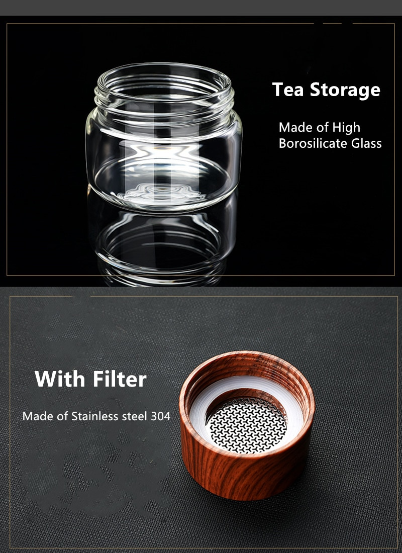 High Quality Double Glass Water Bottle With Case Tea Drink Bottle Infuser Tumbler Drinkware Waterbottle Eco-Friendly
