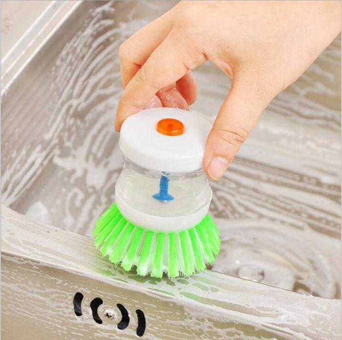 Refillable Soap Dispensing Dish Brush