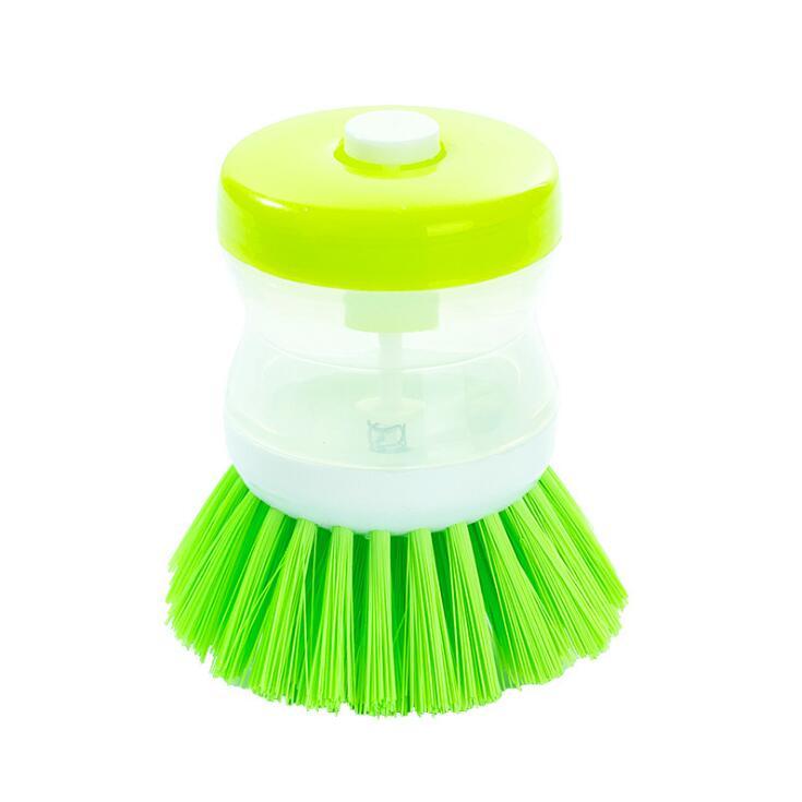 New Home Kitchen Washing Utensils Pot Dish Brush With Washing Up Liquid Soap Dispenser Wash Pot Brush