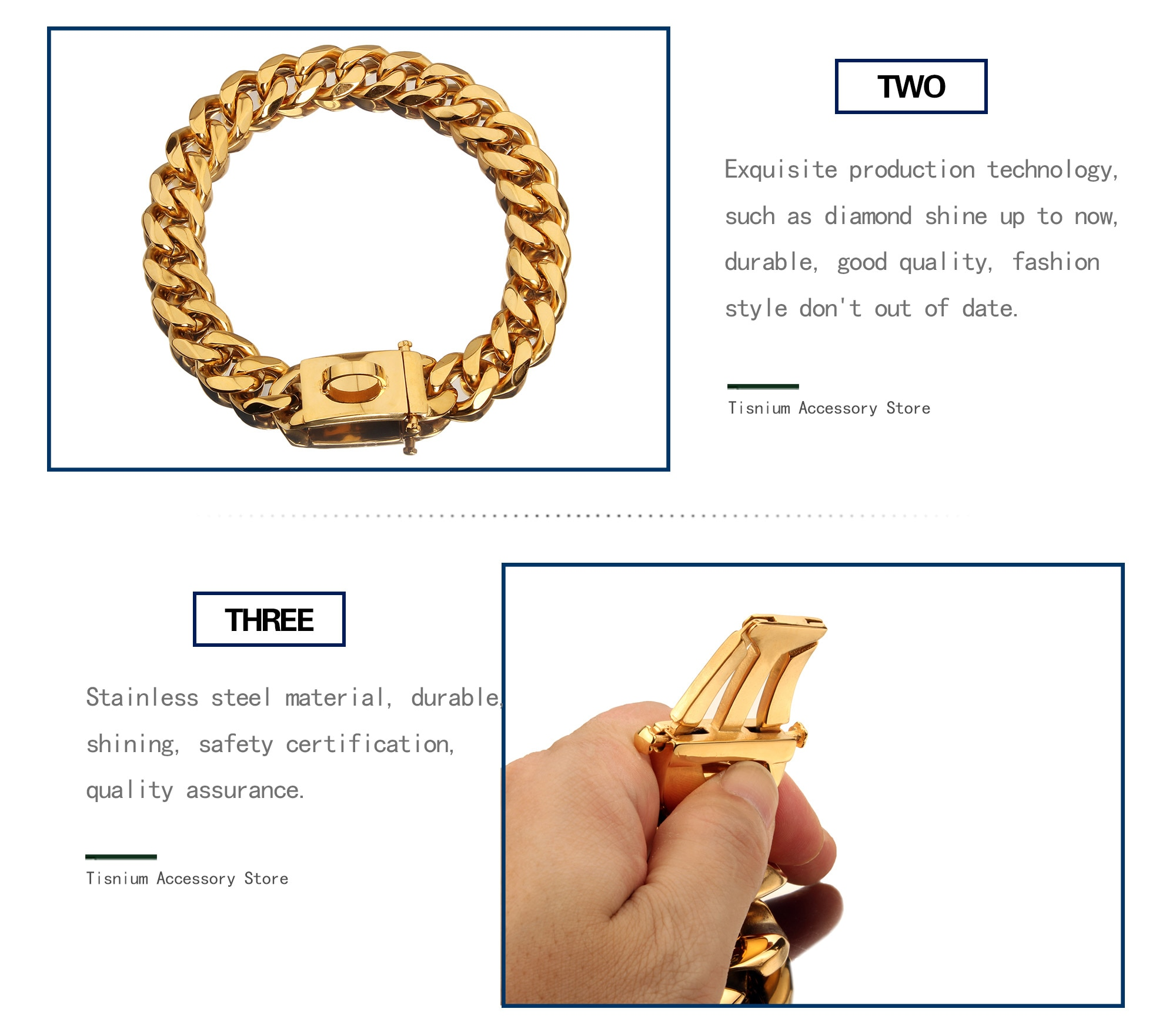 Stainless Steel 19mm Pet supplies Heavy Firm Accessories Pet Dog Chain For Medium Large Dogs Gold Solid Cuban Chain Wholesale