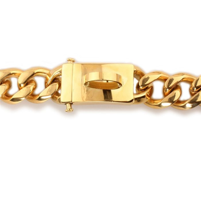 Gold Chain Stainless Steel Dog Collar