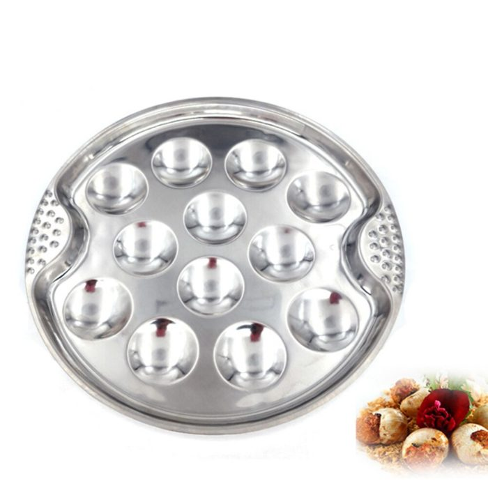 Stainless Steel 12-Hole Escargot Plate