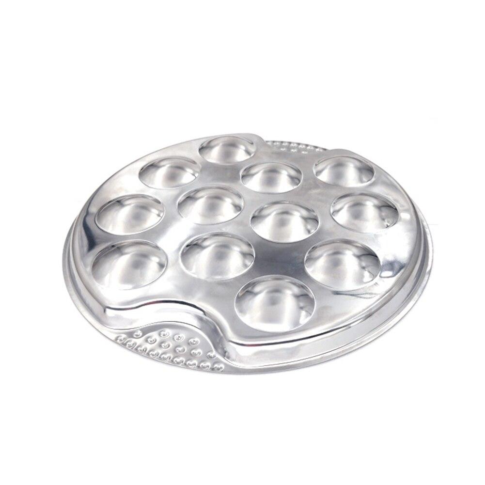 Snail Plate Lightweight Easy Clean Server Restaurant Dish Hotel Heat Resistant Mushroom Escargot 12 Holes Dinner Stainless Steel