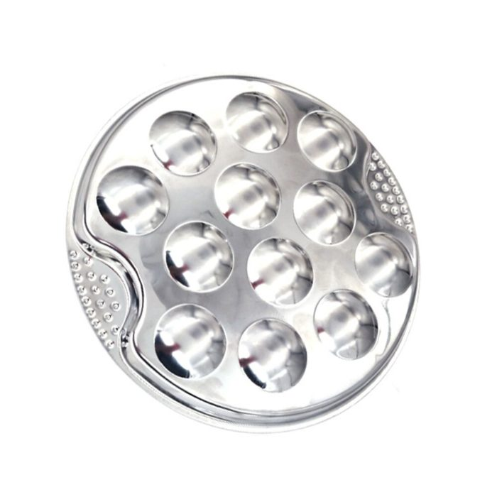 Stainless Steel 12-Hole Escargot Plate