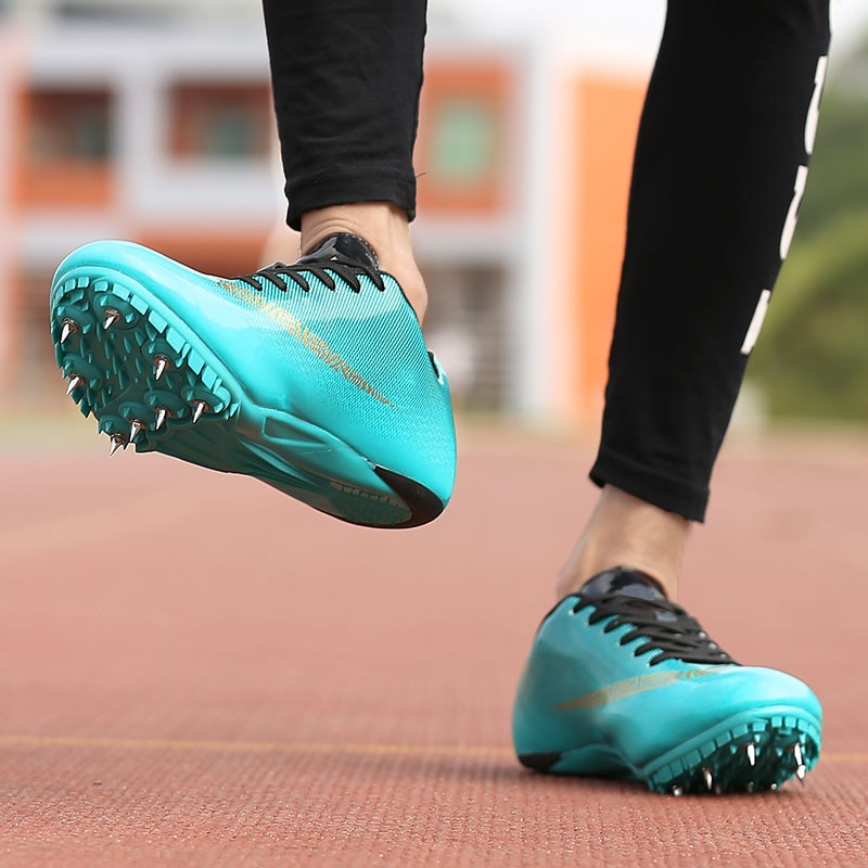 Men Track Field Shoes Women Spikes Sneakers Athlete Running Training Shoes Lightweight Racing Match Spike Sport Shoes Size 35-45