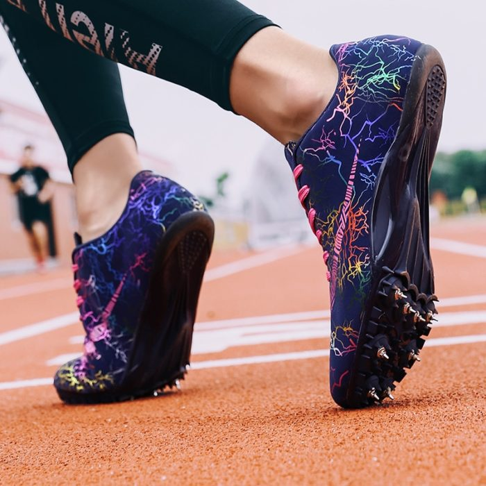 Track Running Shoes with Spikes