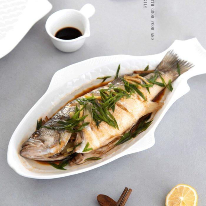 Ceramic Fish Plate Serving Dish