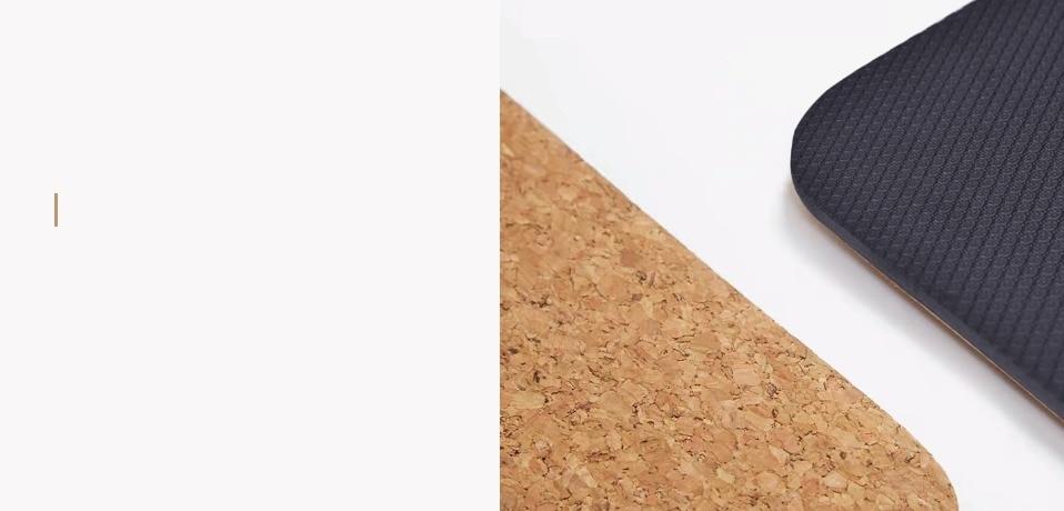 Jusenda 183X68cm Natural Cork TPE Yoga Mat For Fitness 5mm Sport Mats Pilates Exercise Non-slip Yoga mat With Position Body Line