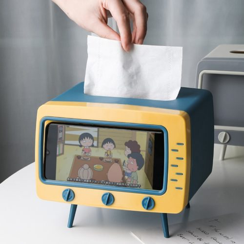 TV Tissue Box Phone Holder