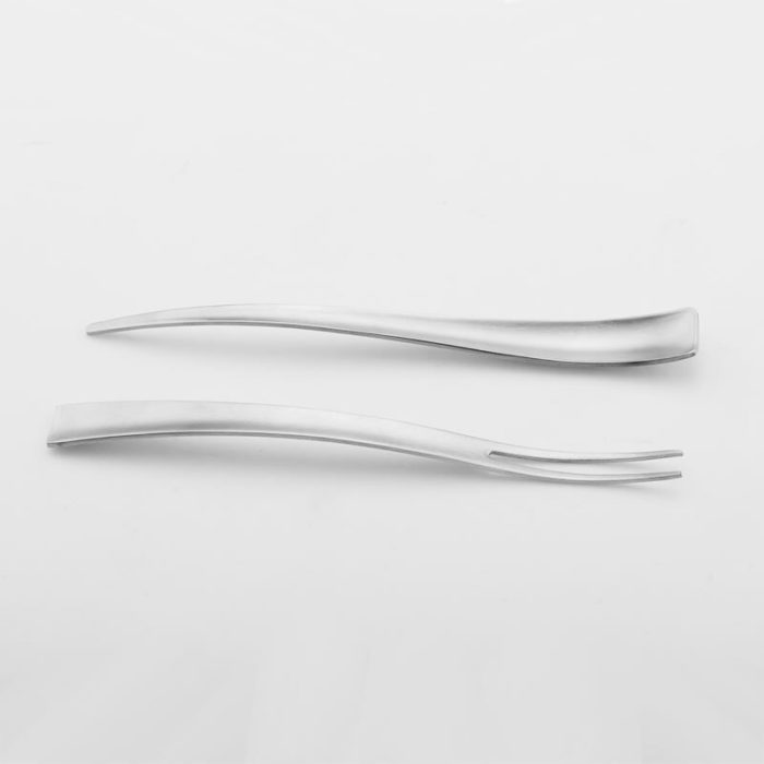 Stainless Steel Snail Tongs with Fork